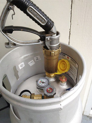 Propane Cylinder Filling Tank